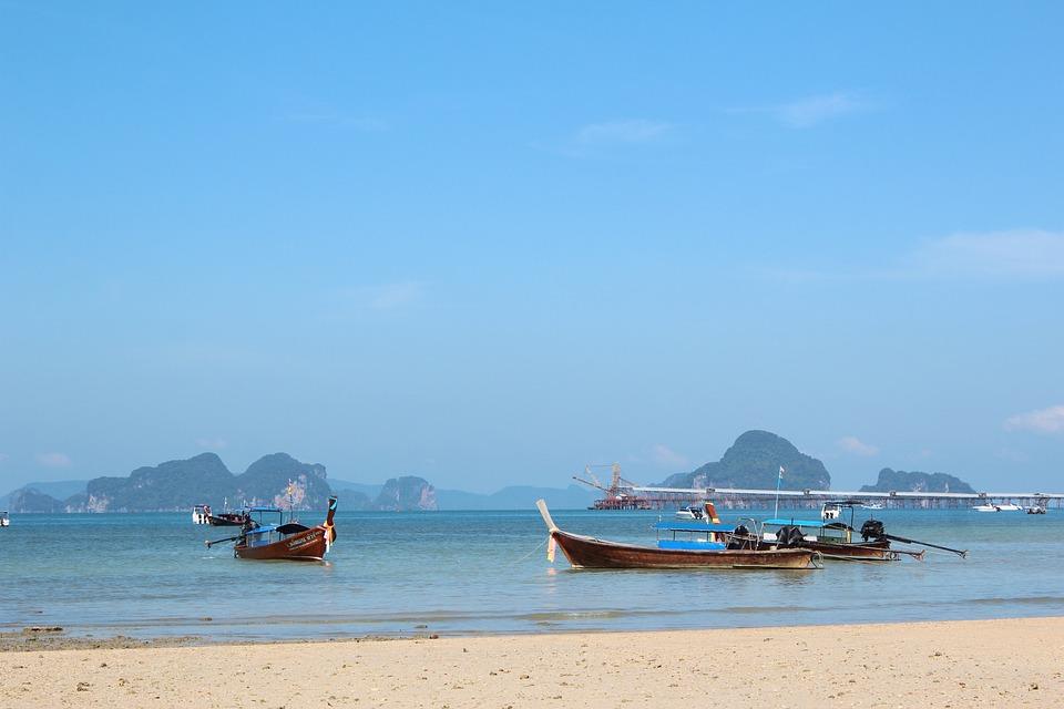 Beach Scene Boats Free Photo On Pixabay