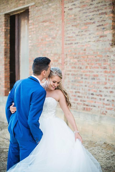 Witte Jurk Op Een Bruiloft.Bruiloft Liefde Blauw Tux Witte Gratis Foto Op Pixabay