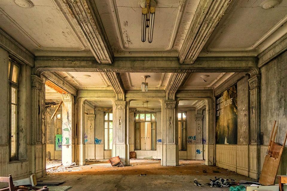 Hall, Espacio, Lugares Perdidos, Hotel, Lujo, Recepción