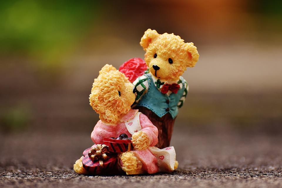 Liebespaar, Liebe, Valentinstag, Bären, Figuren, Lustig