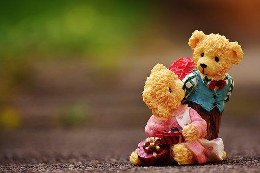 恋人, 愛, バレンタインデー, クマ, 数字, おかしい, 招待状