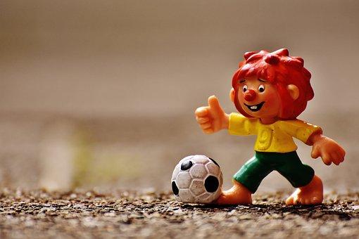 Pumuckl, Figur, Fußball, Lustig, Bunt