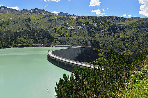 Kaunertal, Dam, Kopfssee, Tyrol