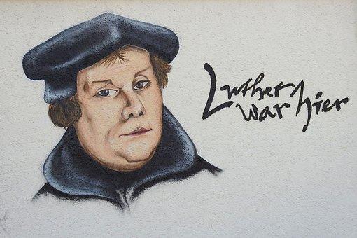 Fassade, Wandmalerei, Kunst, Luther