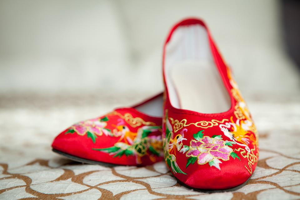 Wedding Chinese Red Shoes Happiness
