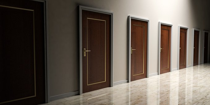 Doors Choices Choose Open Decision Opportu