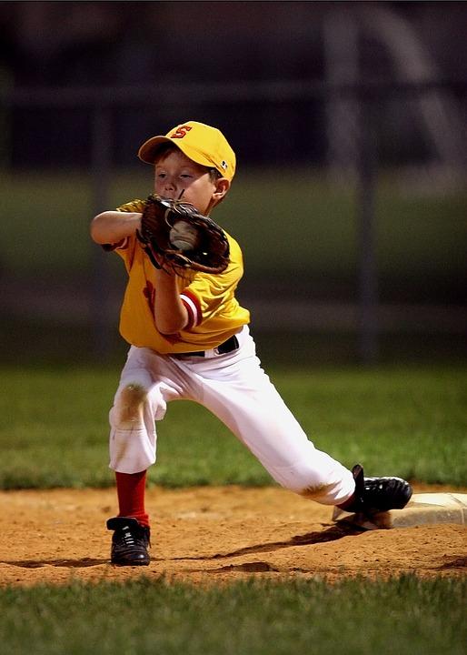 野球, キャッチ, リトル ・ リーグ, 少年, 若いです, スポーツ, プレーヤー, 若者, 制服, 子ども
