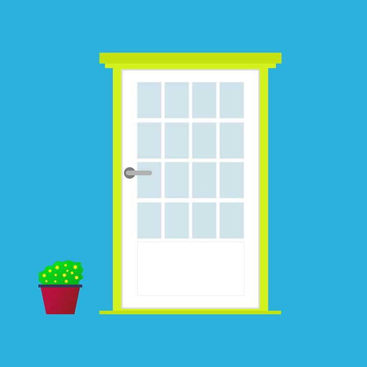 Door Front Flower 183 Free Vector Graphic On Pixabay