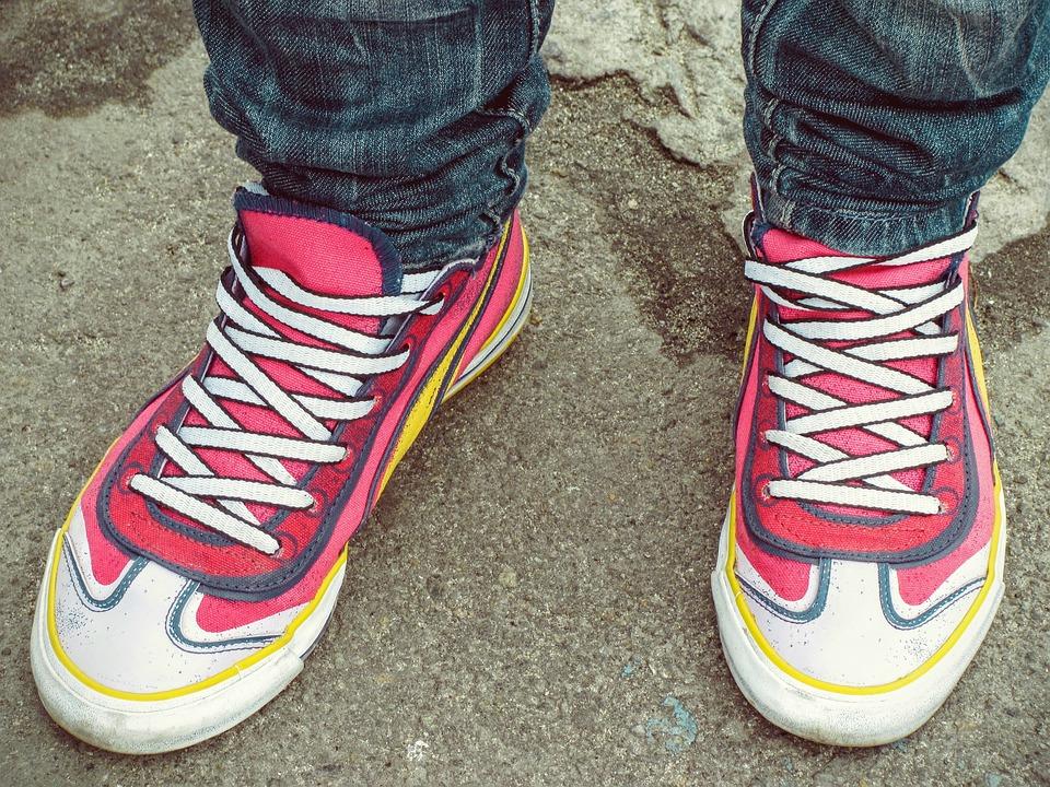Обувь, Ноги, Женщины, Розовый, Пума, Печати, Шнурки