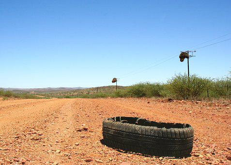 Tyre Burst Karoo Flat Road Rubber Car Vehi