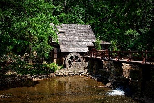Moulin, Alabama, Paysage, Des Forêts