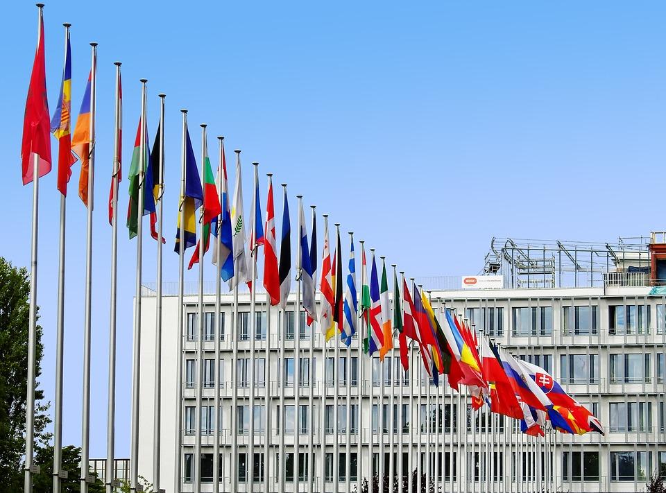 Sinalizadores, Europa, Ue, Pavilhão, Europeia, Golpe