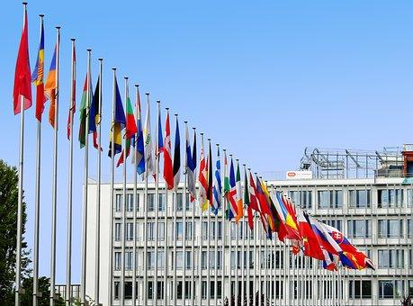 Fahnen, Europa, Eu, Flagge, Europäisch