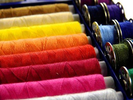 糸, スレッド, 縫う, スレッドのスプール, カラフル, ミシン糸, 小間物
