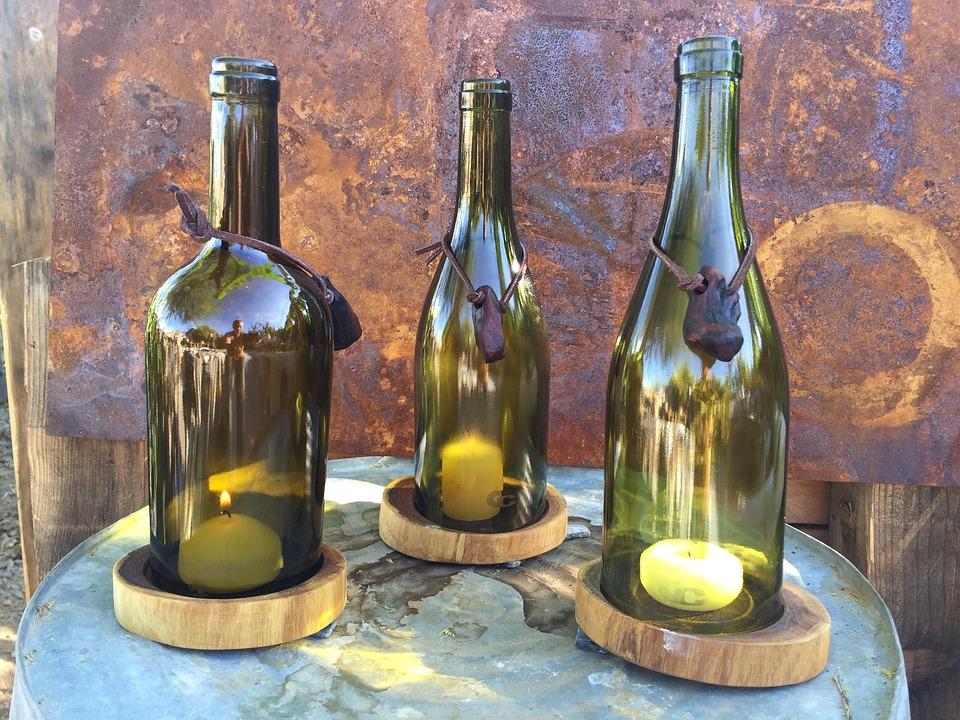 Wine Bottle Candle Holder Free Photo On Pixabay