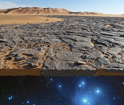 Flat, Earth, Myth, Rocks, World, Edge