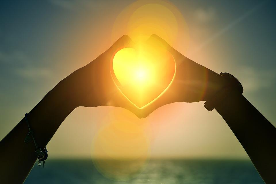 Cuore, Tramonto, Le Mani, Amore, San Valentino
