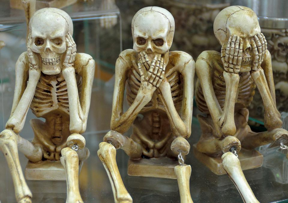 Skeletons Funny Hear No Evil Speak - Free photo on Pixabay