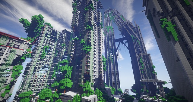Minecraft surival games 2 map free image on pixabay - Minecraft hochhaus ...