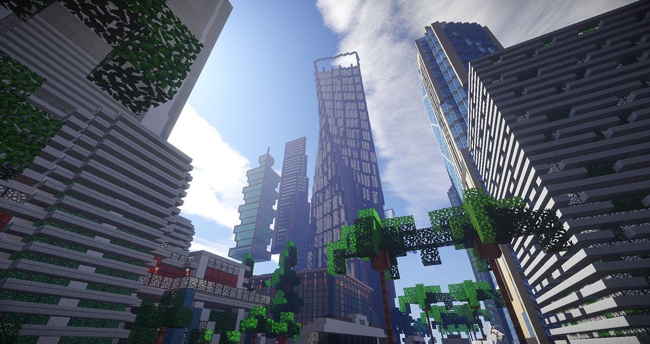 Minecraft Kartta Kaupunki Ilmainen Kuva Pixabayssa