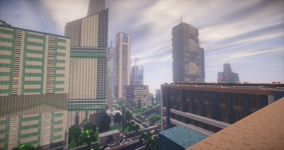 Minecraft Map Stadt Kostenloses Bild Auf Pixabay - Minecraft hochhauser