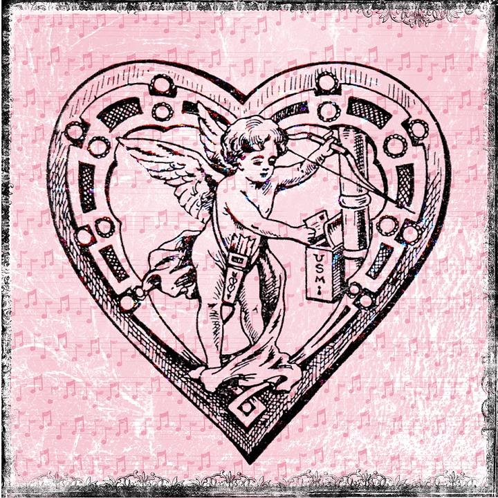 hart tekening engel - gratis afbeelding op pixabay