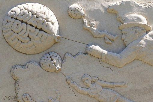Cerveau, Ballon, L'Homme, Chapeau