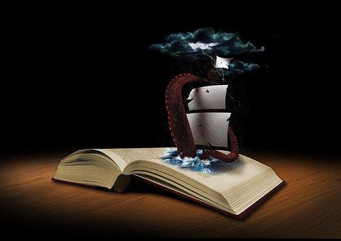本书, 幻想, 鱿鱼, 船舶, 巧妙