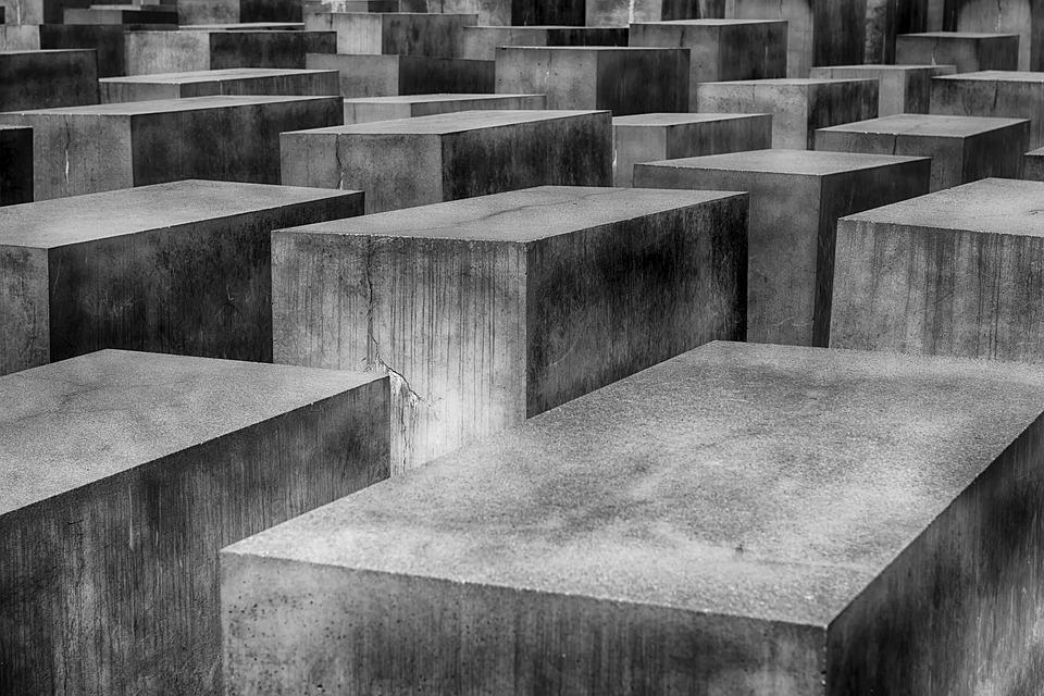 Pomnik, Bloczki Betonowe, Betonu, Holokaust, Berlin