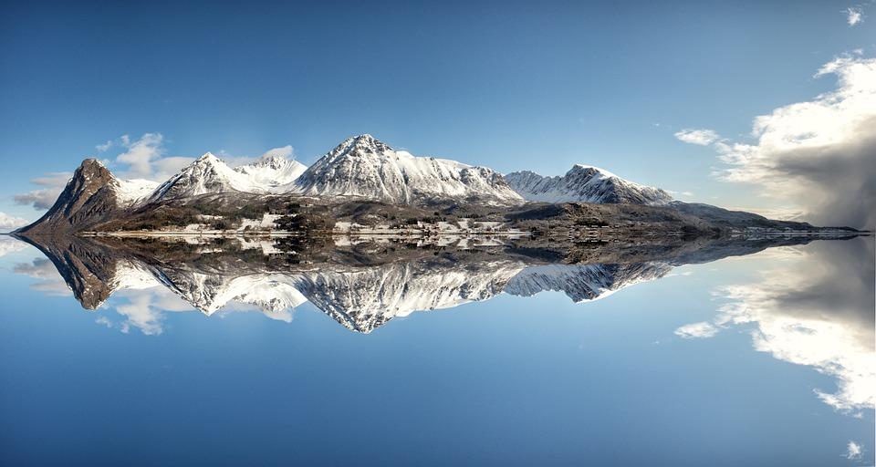 ノルウェー, フィヨルド, 自然, 水, ビュー, 風景, 北極圏, スカンジナビア, 船は移動します