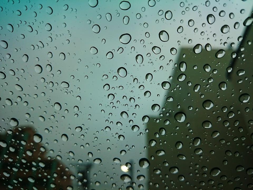 雨, 水滴, 窓, ガラス, 水玉, 梅雨, 憂鬱