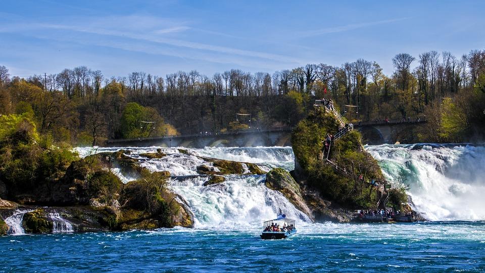 Waterval Rijn Zwitserland.Rheinfall Waterval Schaffhausen Gratis Foto Op Pixabay