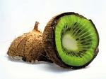 coconut, kiwi, fruit