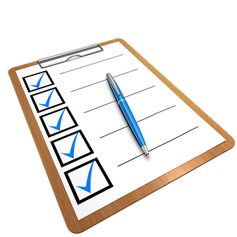 Checklist, Clipboard, Questionnaire, Pen