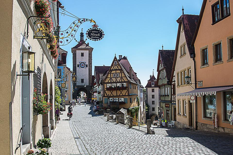 rothenburg ob der tauber pl nlein kostenloses foto auf. Black Bedroom Furniture Sets. Home Design Ideas
