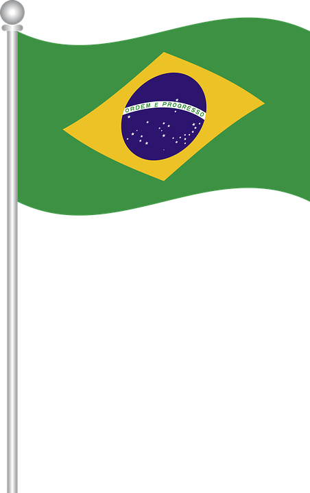 Brazil Flag Waving Png on Indian Flag With Pole