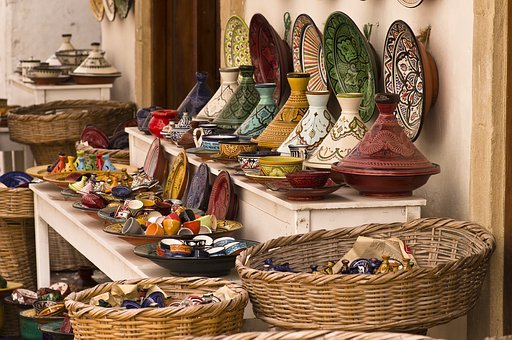 Tajine Pottery Colorful Morocco Morocco Mo