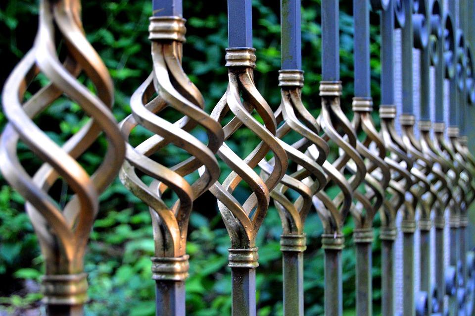 鉄の門, 鍛造鉄, 金属ゲート, 墓地, 目標, 金属手すり, 装飾品, 鍛造芸術, 巧み, 金属の芸術
