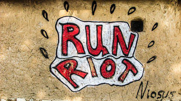 Run Riot, Anarchy, City, Urban, Graffiti