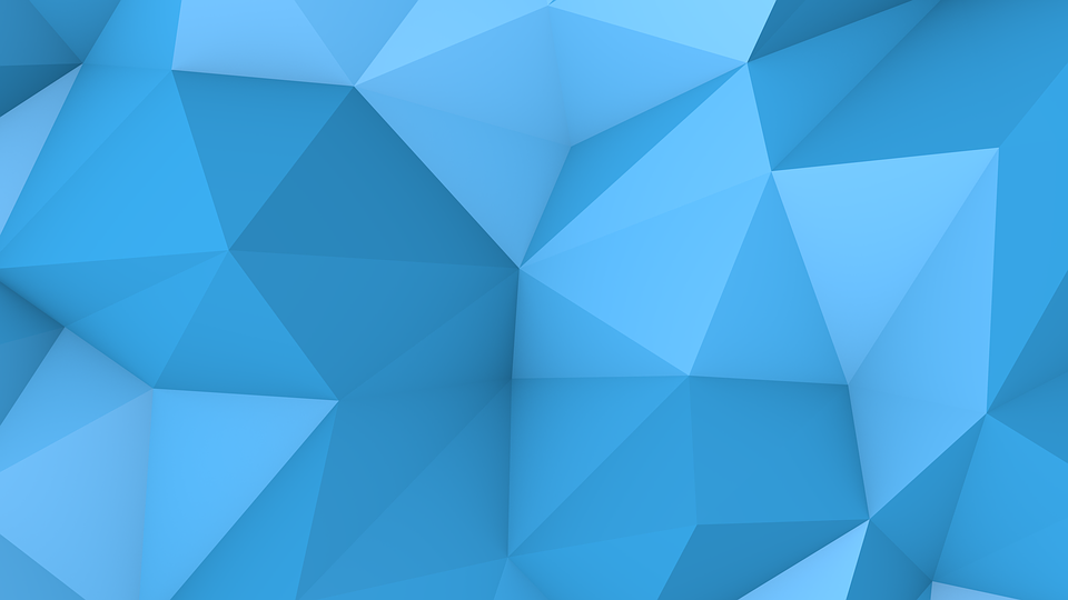 Banner Blue Background Origami Paper Like