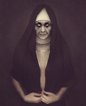 Nun Zombie Possessed Dark Demoniac Sister