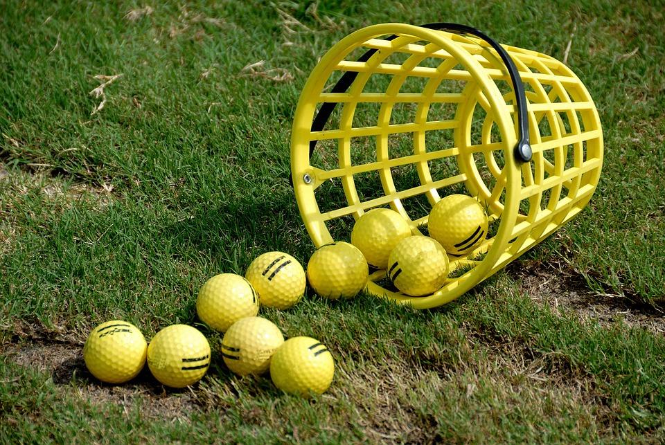golf balls basket practice driving free photo on pixabay rh pixabay com Golf Ball Flight Golf Ball Flight