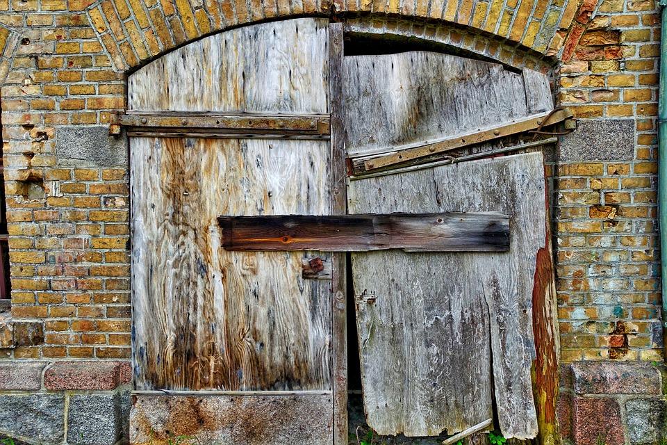 Free Photo Door Ruin Barn Entrance Free Image On