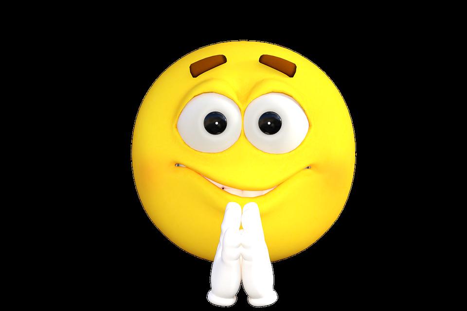 Illustration gratuite motic ne emoji prier smiley - Image smiley gratuit ...