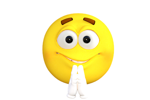 Emoticon, Emoji, Beten, Smiley, Lächeln