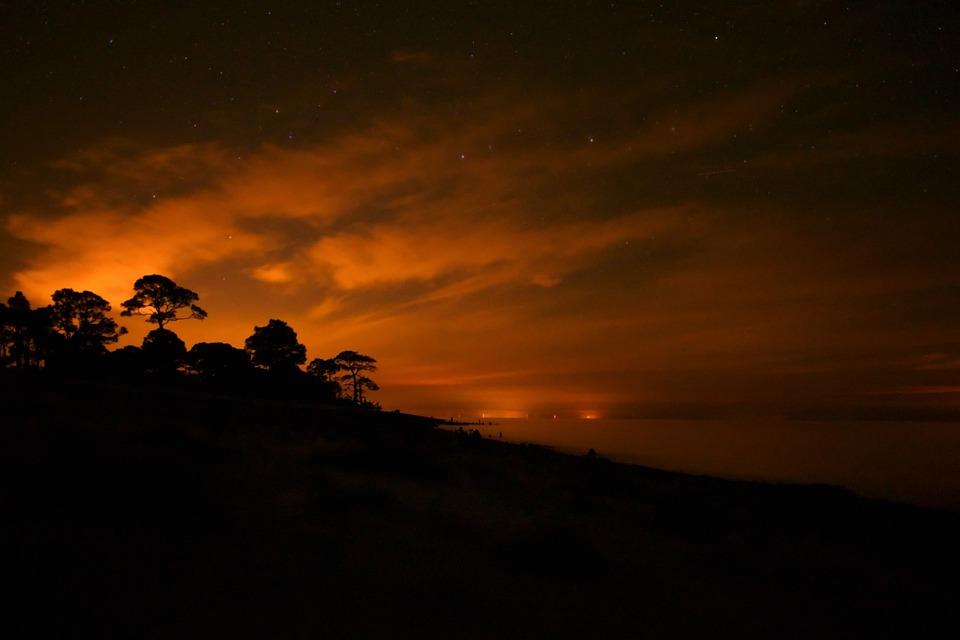 Night Dusk Florida Beach Landscape Stars