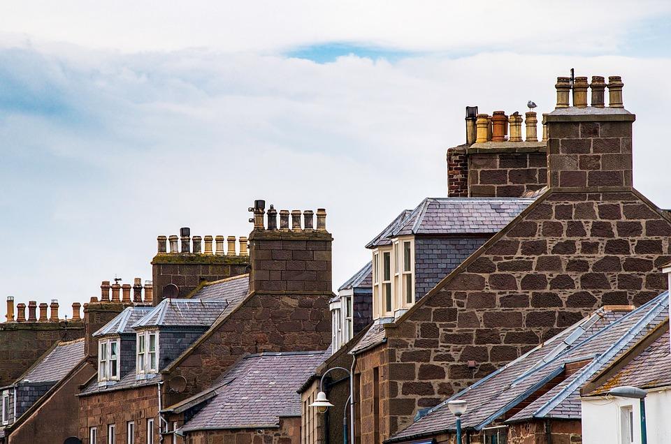 Häuser, Gebäude, Dächer, Architektur, Stadt, Alt