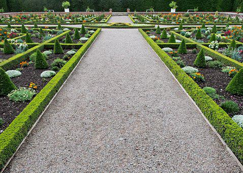 Garden, Formal, Knot, Hedge, Box, Path