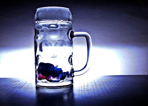 水, ビール ジョッキ, ガラス, ・ クルーク, ドリンク, 健康, 力