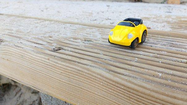 Brinquedo, Carro, Madeira, Miniatura